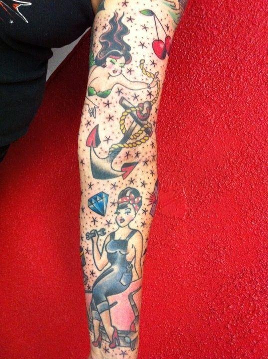 Sailor Jerry Tattoo Sleeve Designs sailor jerry 1/2 sleeve tattoo ...