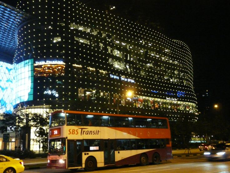 Building at night, Orchard Road, Singapore. October 2011