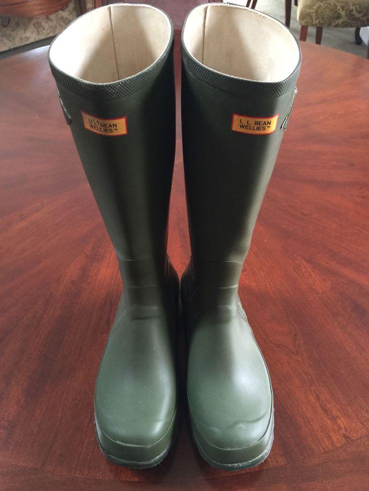 LL Bean Men's Wellies Muck Waterproof Boots Size 10, Hunter Green #LLBean #Muckboot