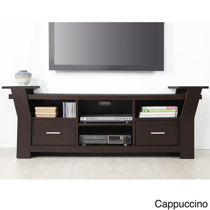 Furniture of America Skyler Contemporary Wide Black White Brown Cappuccino  Two Drawers Entertainment TV Console   Overstock  Shopping   Great Deals on. 78 best Living Room Furniture images on Pinterest   Living room