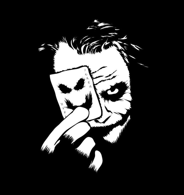 Camiseta chica Batman. Joker, black and white