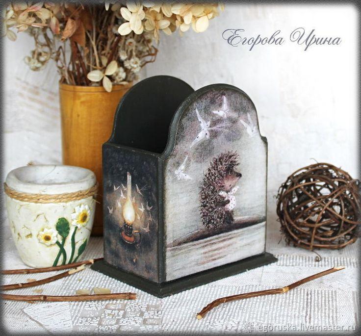 """Карандашница """"Ежик в тумане 2"""" – купить в интернет-магазине на Ярмарке Мастеров с доставкой"""