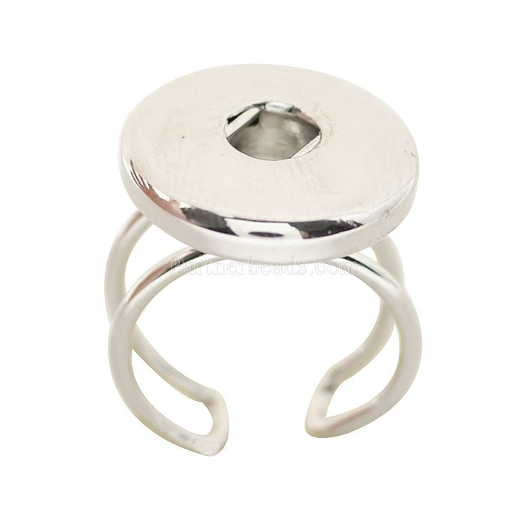 snaps metal ring fit 18mm button snaps jewelry KB0548
