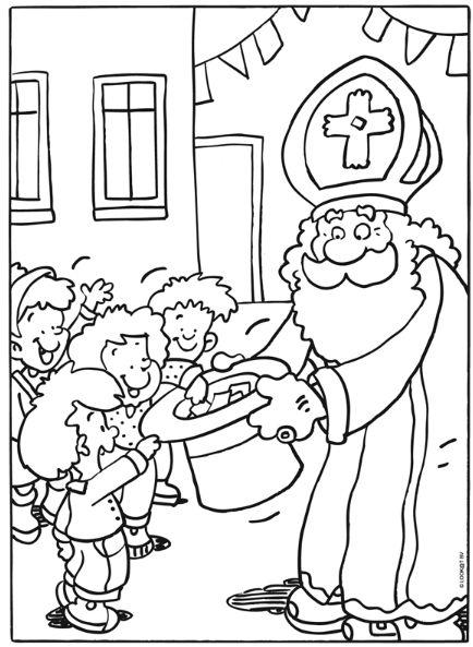1000 Images About Sinterklaas Kleurplaten On Pinterest