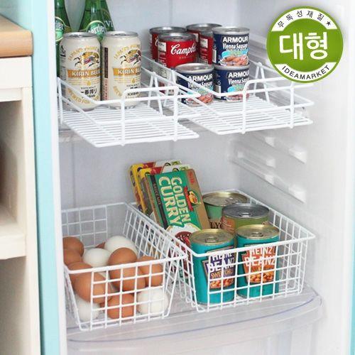 [아이디어마켓](반품)다용도 바구니(대)/냉장고정리선반/주방바구니