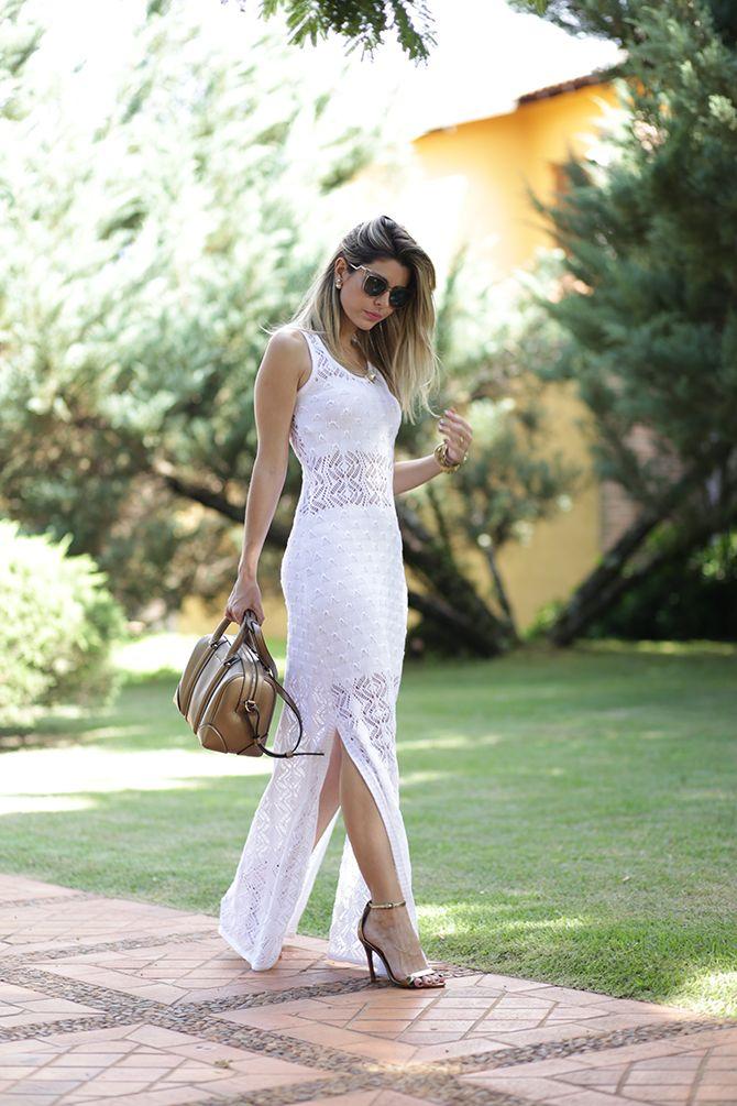 Look – Vestido Branco Longo