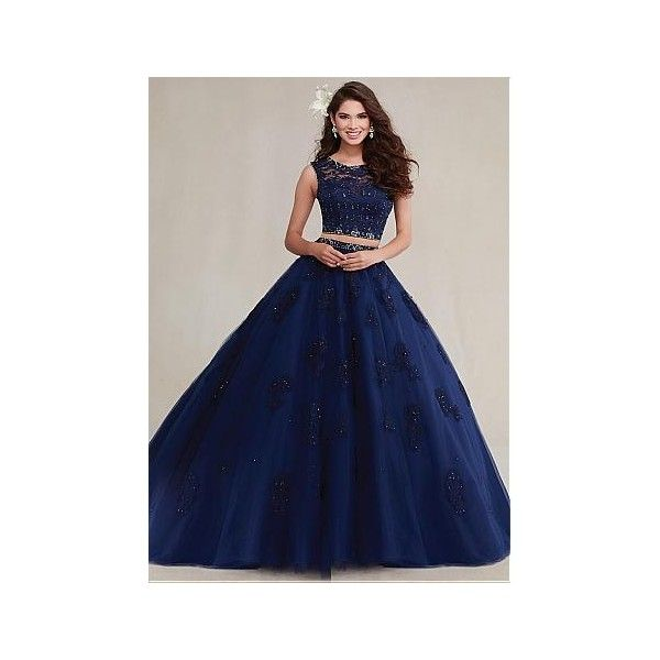 Discount Ball Gown Occasion Dresses,Plus Size Occasion Dresses... ❤ liked on Polyvore featuring dresses, gowns, blue dress, blue evening gown, blue gown, womens plus size night gowns and plus size gowns