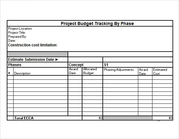 Project Budget Template Project Budget Tracking Excel Template - project estimate template