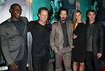 Lance Reddick, Dean Winters, Keanu Reeves, Adrianne Palicki and Chad Stahelski attend Summit Entertainment's premiere of 'John Wick' at the ArcLight Theater on October 22, 2014 in Hollywood, California.