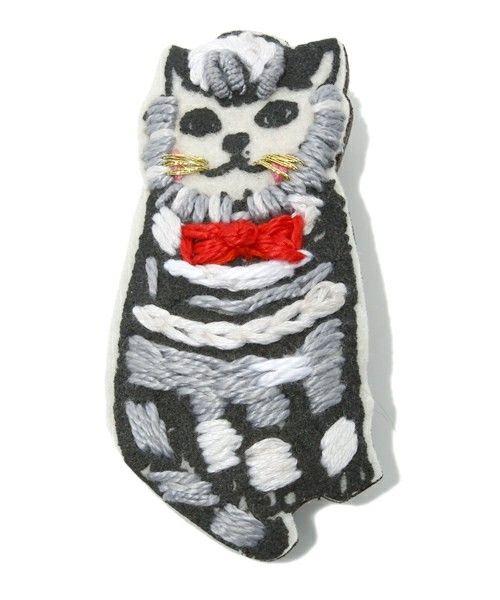 tamao(タマオ)の動物ブローチ(猫)(ブローチ・コサージュ) その他1