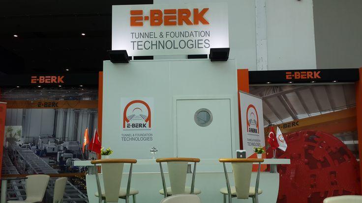 E-Berk Tünel Teknolojileri, Karayolları, Köprüler ve Tüneller İhtisas Fuarı Ankara fuar standı tasarım ve uygulaması / E-Berk Tunnel Technologies exhibition stand design & application #e-berk #tunel