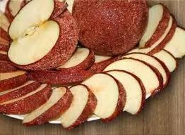 manzanas cubiertas de chamoy