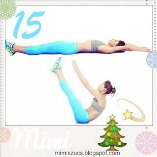 Mai feladatunk a V-situp, azaz V-felülés, egy haladóbb hasgyakorlat.  ✅ A helyes kivitelezés: Feküdj hanyatt nyújtott karokkal és lábakkal, majd a felső- és alsótestet egyszerre emeld meg. Közben fújd ki a levegőt. Ereszkedj lassan, kontrolláltan vissza, majd ismételd meg.  ❓Mennyit csináljak? • Ha még soha nem próbáltad, próbálj 6-8-at, és ha nehezen akar menni, nyugodtan csináld hajlított térdekkel. • Ha megy, 3x 8-10-15, attól függően, mennyire megy könnyen.