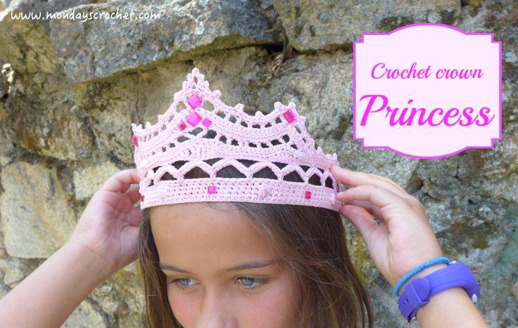 Haz que las peques se sientan auténticas princesas con una corona muy original hecha de ganchillo.