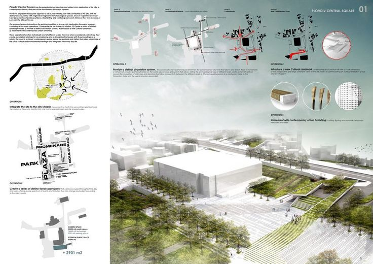 International architectural competition for the central square of Bulgaria's second largest city Plovdiv
