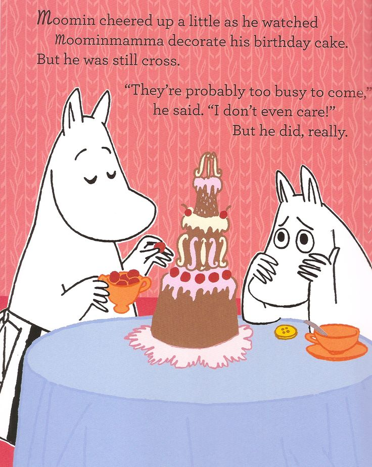 From the Moomin birthday book