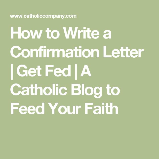 A Letter to My Newly Confirmed Niece