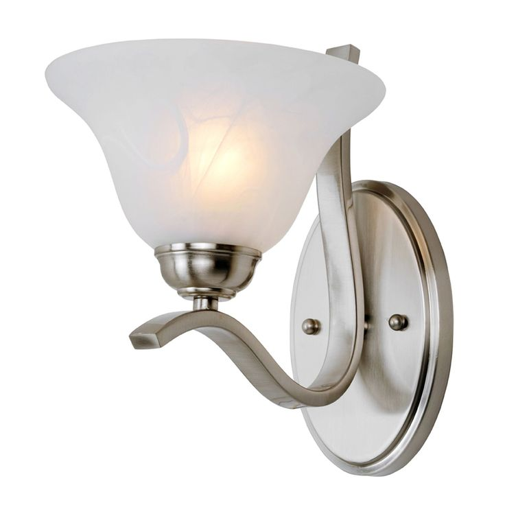 "Bel Air Lighting CB-2825-BN 10"" Brushed Nickel Pine Arch Wall Sconce"