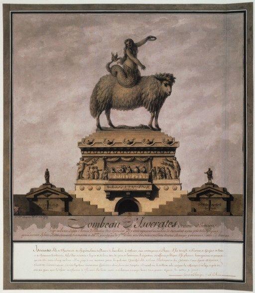 jean-jacques lequeu - le tombeau de socrates