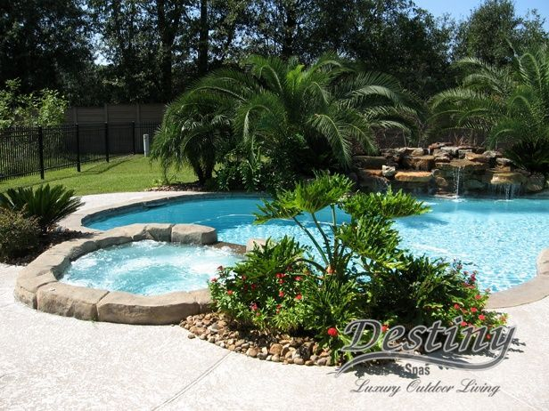 1122 best pools images on pinterest backyard ideas for Pool landscaping ideas