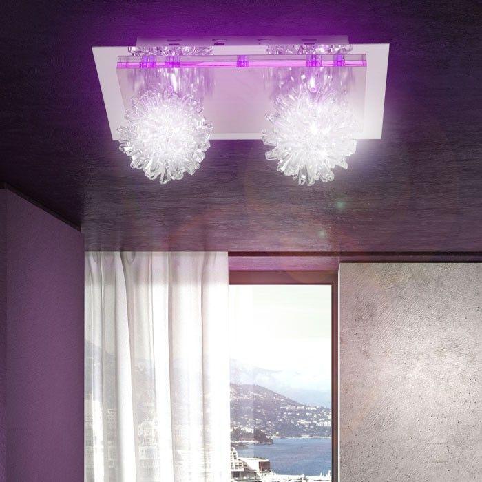 Details Zu TOP Flur Wohnzimmer Kinderzimmer Deckenlampe Lampe Leuchte LED Wandlampe Violett