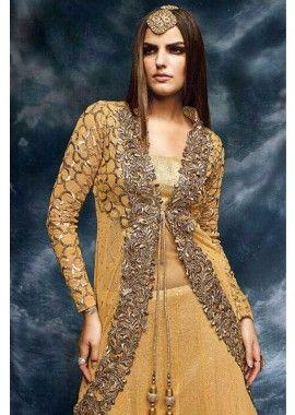 couleur or net douce costume Anarkali, - 164,00 €, #RobeIndou2016 #LaModeIndienne #TenuBollywood #Shopkund