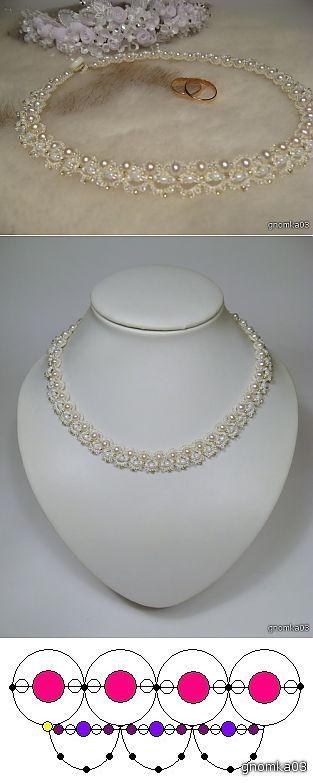 Свадебное ожерелье. | бисер | Постила
