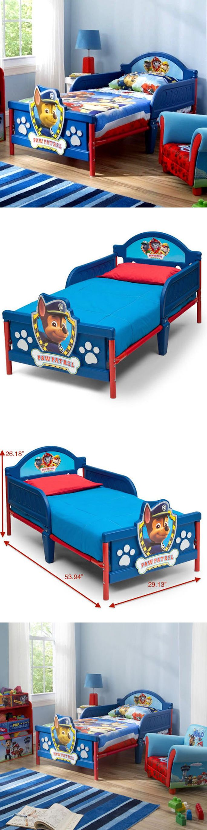 Other Nursery Bedding 20421: Paw Patrol Toddler Bed Delta Furniture Boys Junior Cot 3D Chase -> BUY IT NOW ONLY: $109 on eBay!