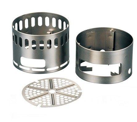 L'Evernew Ti DX Stand peut servir soit de réchaud à bois ou alcool solidifié soit de support pour brûleur à alcool http://www.equipement-de-survie.fr/produit/alimentation/rechaud/evernew-ti-dx-stand