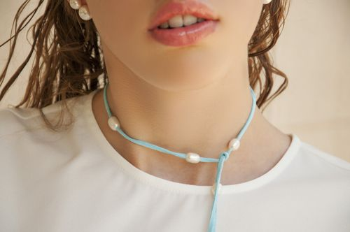 sneakers and pearls,who needs lip botox with such lips, Karshia next runway top model, double pearl earrings, jewellery, jewelry, aqua leather string with fresh water pearls,trending now.jpg