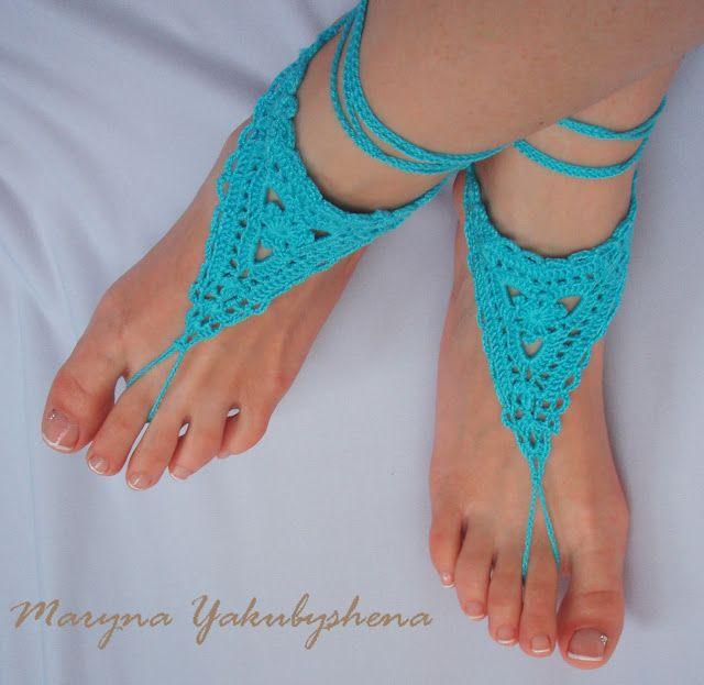 Творческие истории с Мариной Якубышеной: Бирюзовые босые сандалии