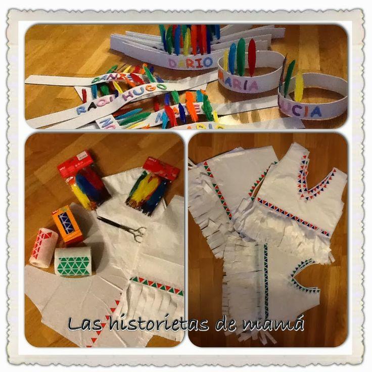 Disfraz de indio #DIY #niños #disfraces / http://lashistorietasdemama.blogspot.com.es/2013/09/un-divertido-disfraz-de-indio.html