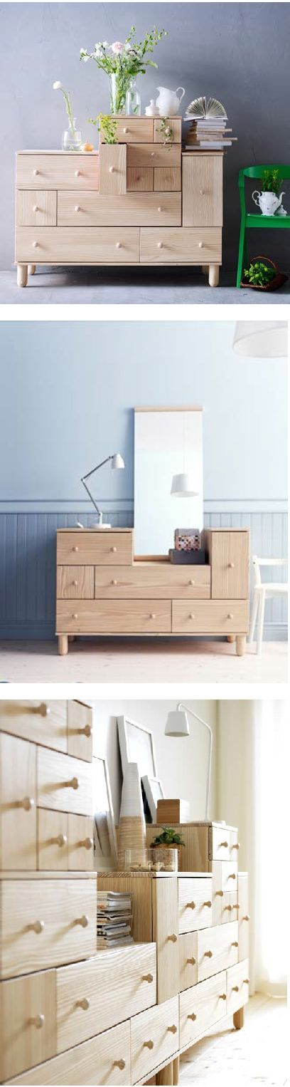 IKEA Fan Favorite: IKEA PS 2012 chest with add-on unit. This fan fave is made of solid wood, which is a durable and warm natural material.
