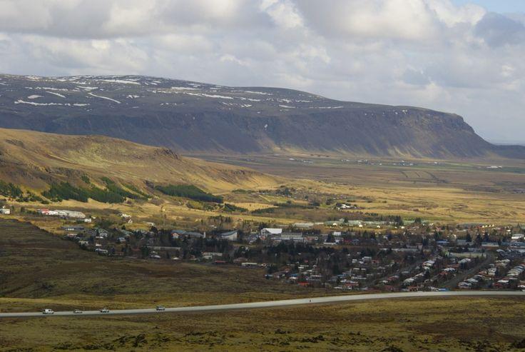 View over city Hveragerði, Iceland. #iceland #island #Hveragerði #hiking #vandring #nature #mountains