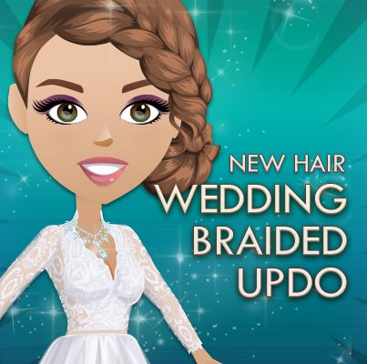 This week's new hair is Wedding Braided Updo! REPIN if you love!!