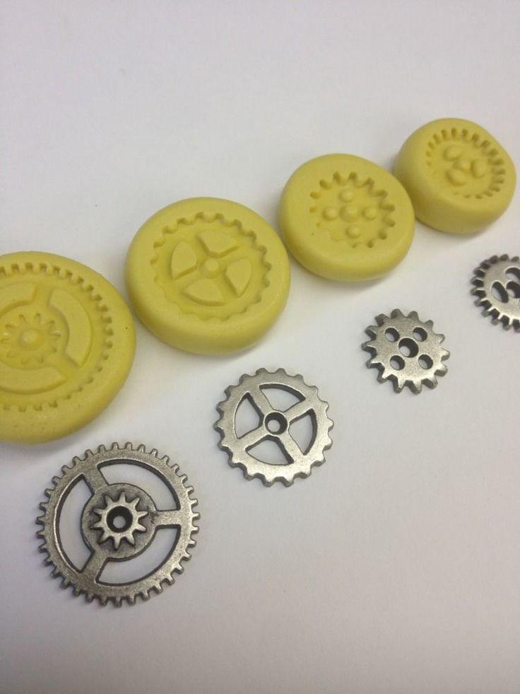 Flexible Silicone Mold Resin Clay Fondant Steampunk Gear Chocolate Polymer Clay | eBay