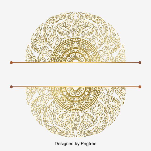 金色大氣奢華花紋歐式 金色 大氣 奢華素材 Psd格式圖案和png圖片免費下載 Border Pattern Thai Pattern Pattern