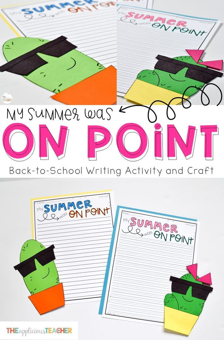 My Summer Was On Point- cactus writing activity and craft! Perfect for the first day back from summer break! Love this expository writing idea