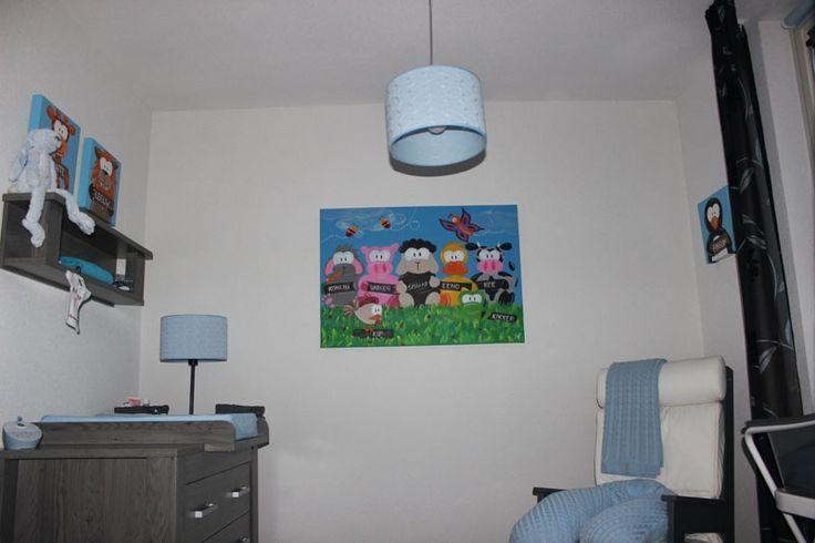 Blauwe kinderkamer  Kinderkamer fotos  Beessies