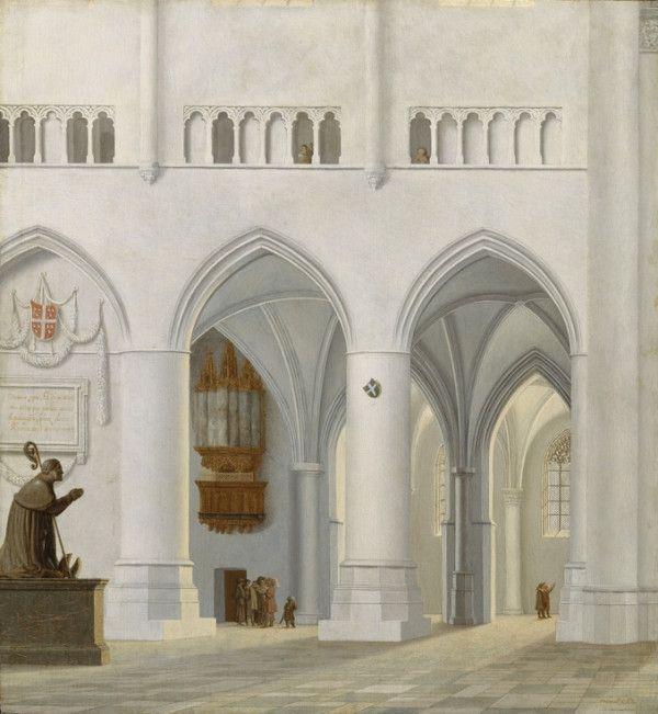 ハールレムの聖バヴォ教会内陣と架空の司教の墓; 1630年 ピーテル・ヤンス・サーンレダム