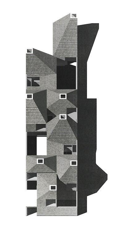 Schützen community housing - tilted view