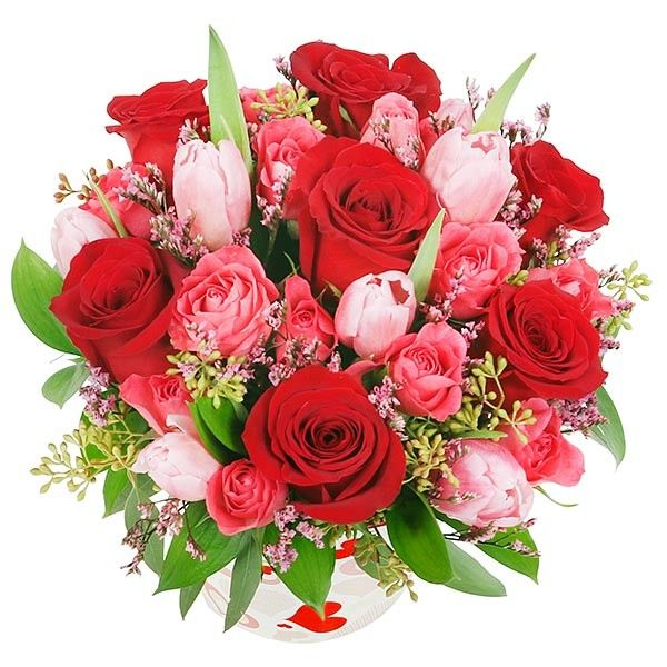 Be Mine! - Roses Tulips - Flower Delivery NYC - plantshed.com