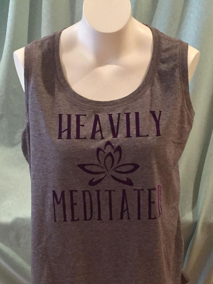 cb9cdae8135 Heavily Meditated Ladies PLUS SIZE 2X Tank Top Active Inspirational  Motivational Workout Gym Fitness Women XXL Yoga Pilates Barre 21 Fix Mom by  ...