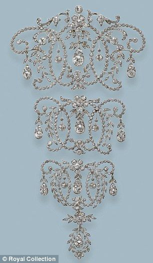 Queen Mary had two wedding gifts joined together to make the Stomacher