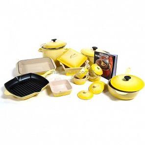 20-częściowy zestaw garnków Le Creuset  SOLEIL Le Creuset cookware set yellow