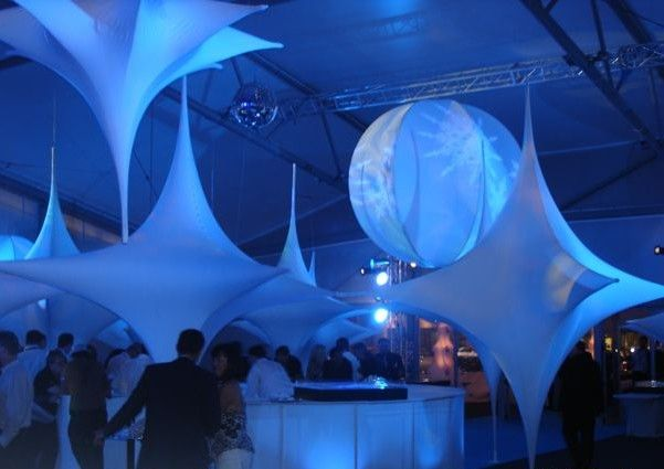 super cool stretch decor - you should see the tents and inflatable walls these aussies do