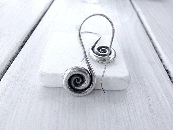 Sterling Silver Twist Earring, Spiral Earring, Minimalist Jewelry, Timeless Infinity Earring, Santorini Jewelry, Twist Hooks, Spiral Hooks