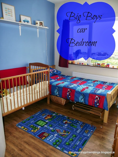 Room for Improvement Challenge : Boys Car bedroom Makeover via My country girl ramblings