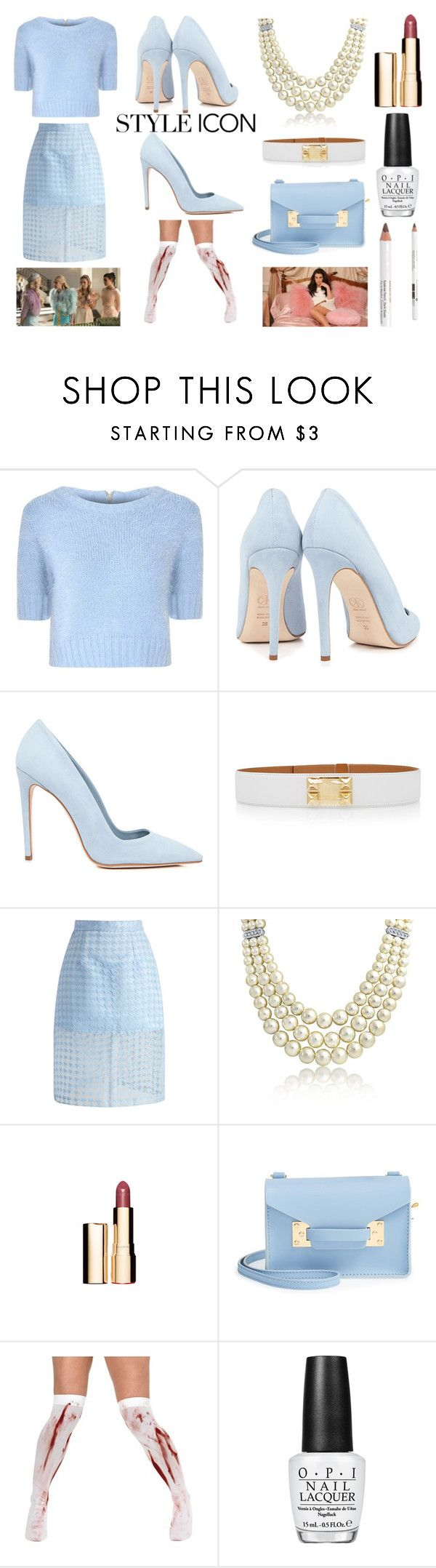 """""""Style Icon: Chanel Number 6 from Scream Queens"""" by aradiamegiddy ❤ liked on Polyvore featuring Glamorous, Dee Keller, Hermès, Chicwish, Bling Jewelry, Sophie Hulme, OPI and Korres"""