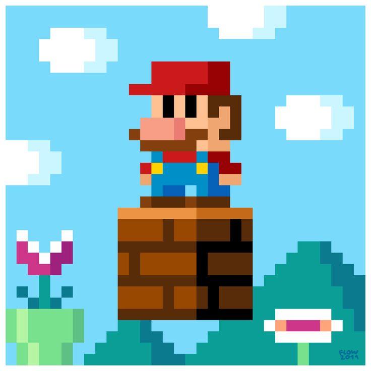 8-Bit Mario. To print!